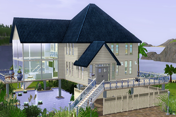 Sims 3 blueprints for houses joy studio design gallery for Beach house designs for sims 3
